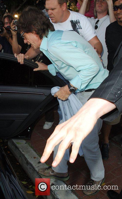 Mick Jagger leaving Orso restaurant in Beverly Hills...