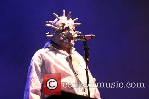 Guest Performer performs at the Mighty Boosh Festival...
