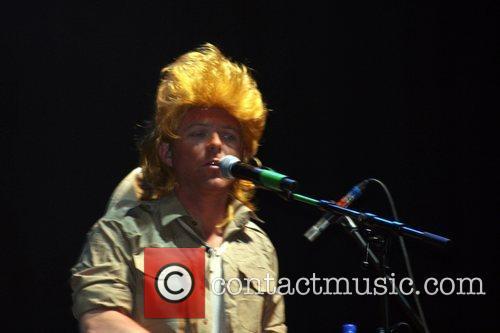 Performer at the Mighty Boosh Festival Hop Farm,...