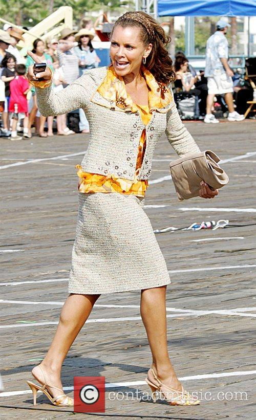Vanessa Williams on the set of 'Hannah Montana:...