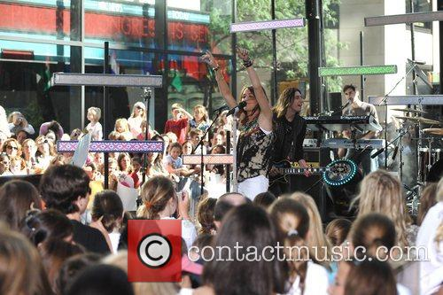 Miley Cyrus performs live on The Today Show's...
