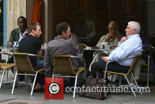 Visits a cafe after leaving Radio One studios