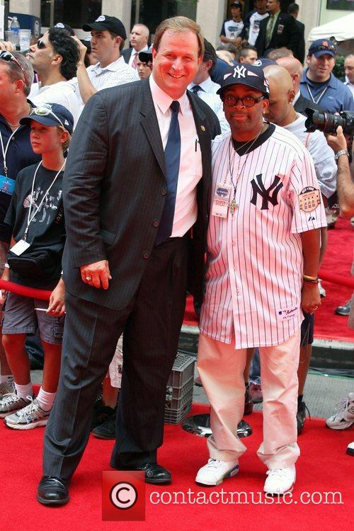 Spike Lee and guest 2008 MLB All-Star Week...