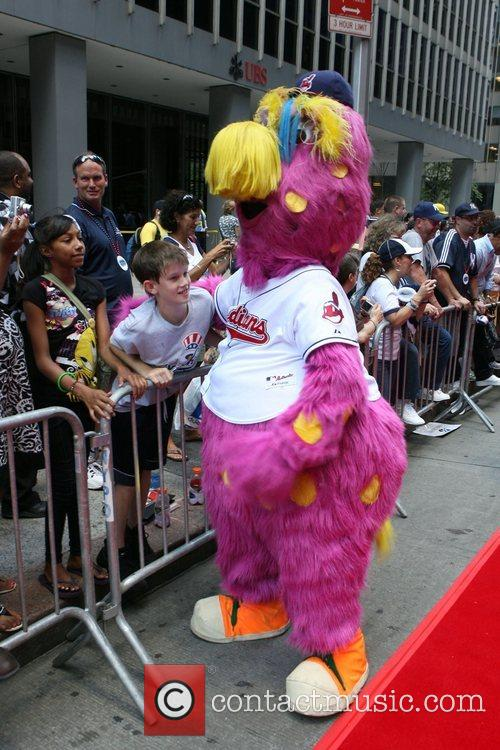 Cleveland Indian mascot 'Slider' 2008 MLB All-Star Week...