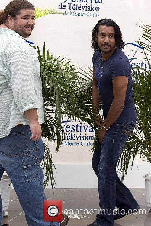 Naveen Andrews and Jorge Garcia Photocall during the...