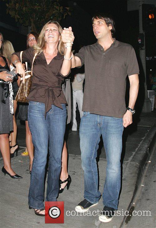 Joe Francis with Heidi Montag's mother leaving STK...