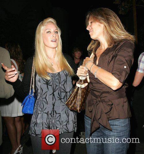 Heidi Montag and her mother leaving STK restaurant...