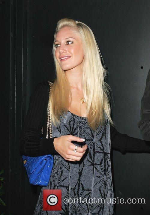 Heidi Montag leaving STK restaurant after having dinner...