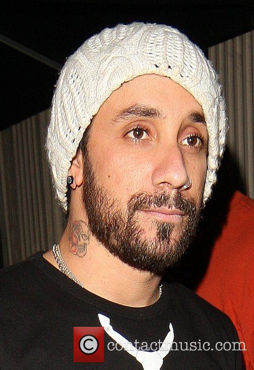 A.J McLean leaving Movida night club
