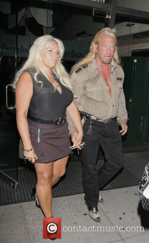 Beth Smith, Duane 'Dog' Chapman leaving Mr Chow...