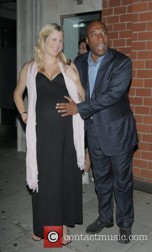 Byron Allen and his pregnant wife Jennifer Lucas...