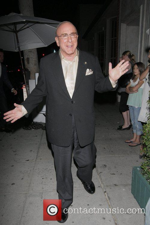 Clive Davis outside Mr Chow Los Angeles, California