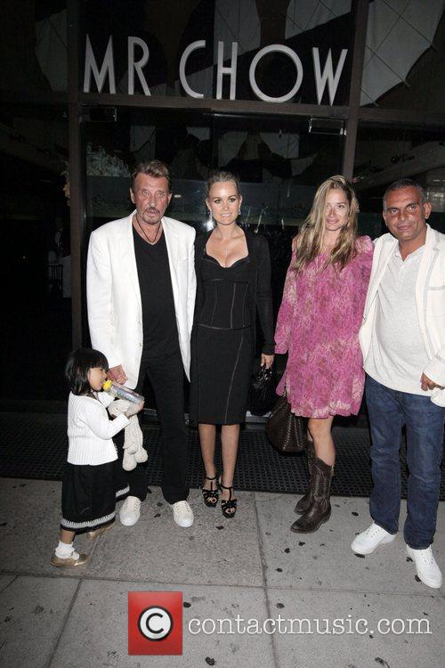 Johnny Hallyday, Laetitia Boudou and Christian Audigier leaving...