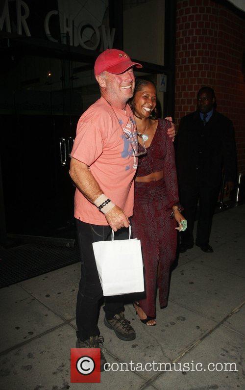 Tony Scott leaving Mr Chow restaurant Los Angeles,...