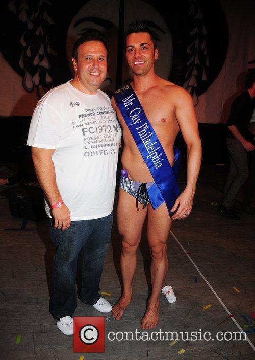 Winner John Caputo and his sponsor Joe Pesce...