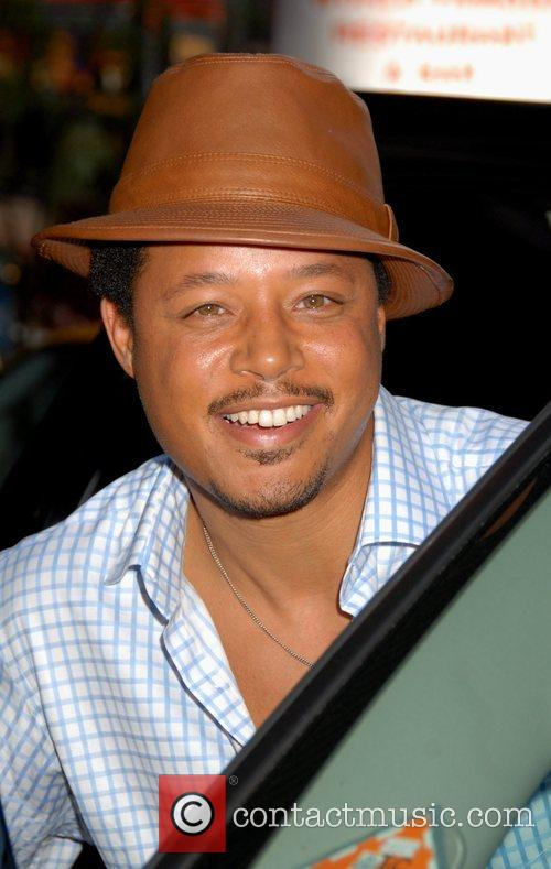 Terrence Howard outside the MTV TRL Studios in...