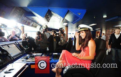 Myleene Klass  at the Dover Cruise Port...