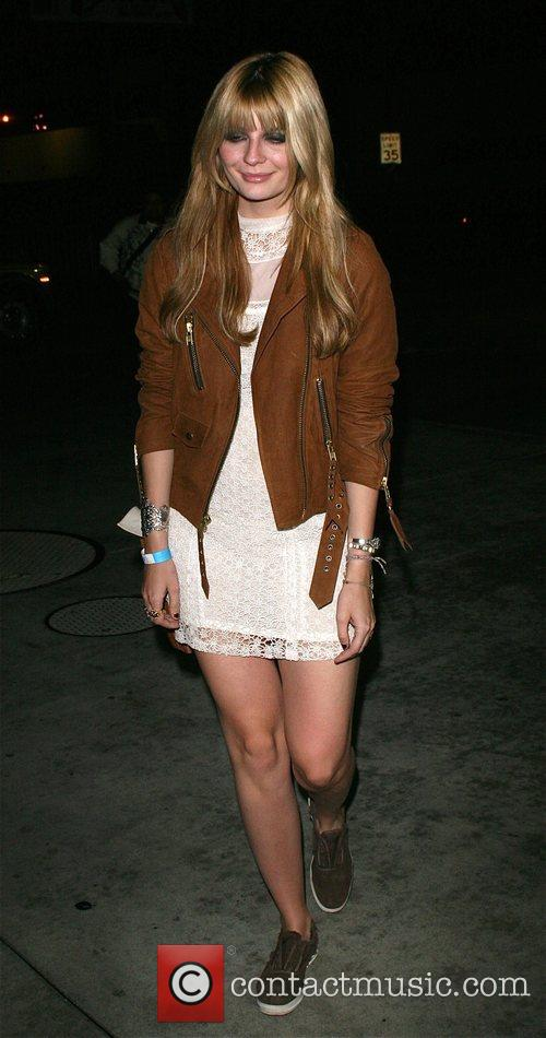 Mischa Barton leaving a MySpace party with her...
