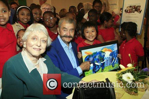 Celeste Holm, LeRoy Neiman and the children at...