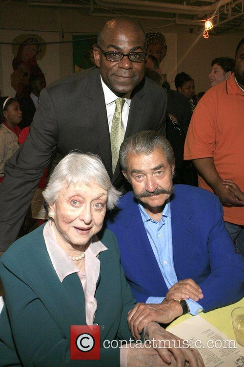 Claton Evans, Celeste Holm and LeRoy Neiman at...