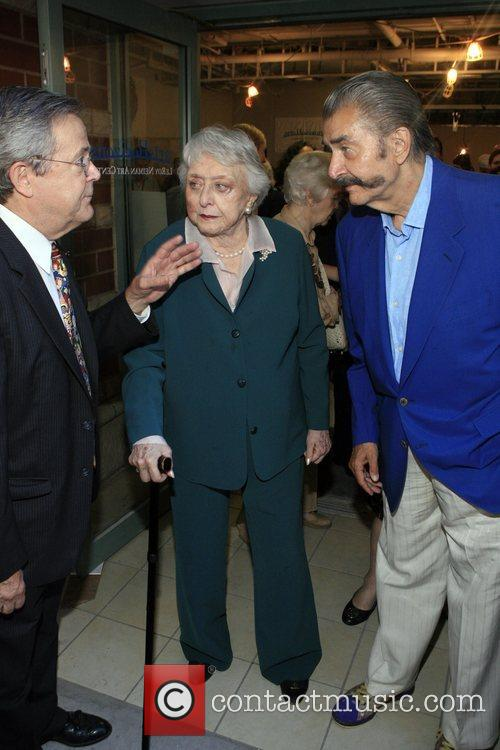 John Dueval, Celeste Holm and LeRoy Neiman at...