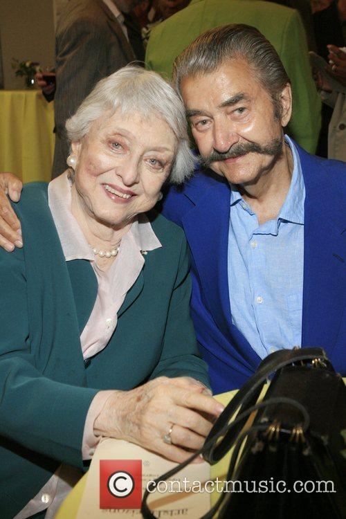 LeRoy Neiman and Celeste Holm at the opening...