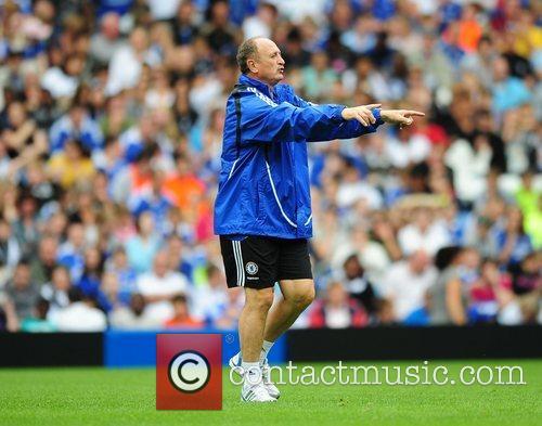 Luiz Felipe Scolari Chelsea open training session at...