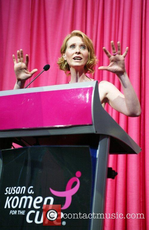 Speaks at the 2008 Susan G. Komen National...