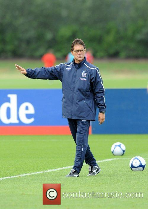 During the England Training session at London Colney,...
