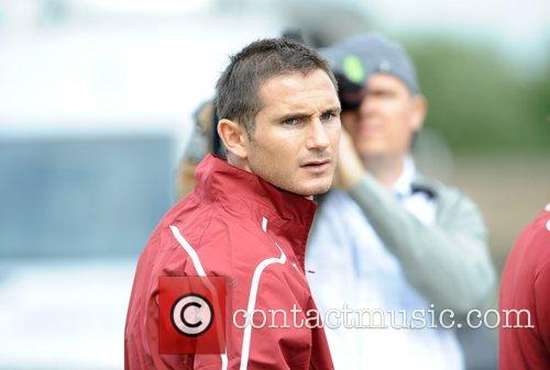 Frank Lampard during the England Training session at...