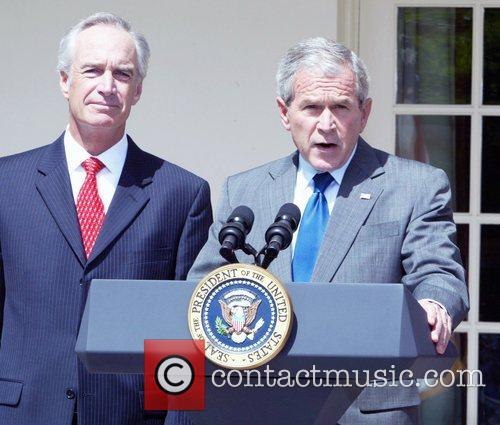 President George W. Bush addresses the nation during...