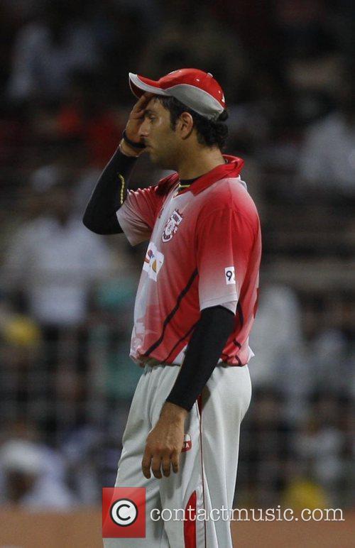 Yuvraj Singh captain of Kings XI Punjab during...