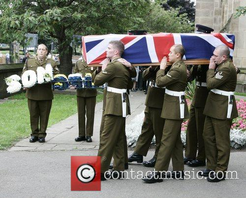 Funeral of soldier Wayne Bland, 21, from Gipton...