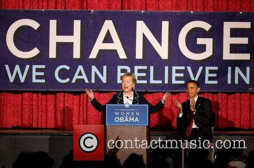 Senator Hillary Clinton and US Democratic Presidential Candidate...