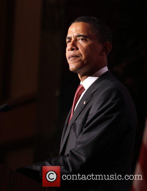 US Democratic Presidential Candidate Senator Barack Obama speaks...