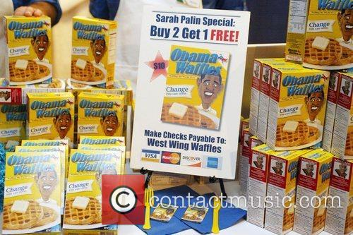 Obama Waffles for sale at the 2008 Family...