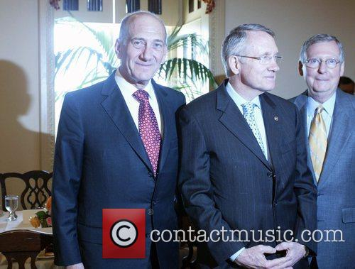 Congressional leaders greet the visiting Prime Minister at...