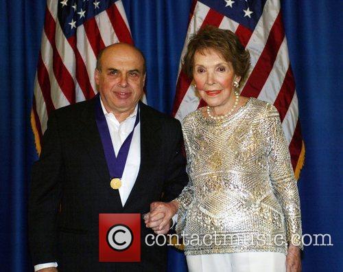 Former First Lady Nancy Reagan presents Russian human...