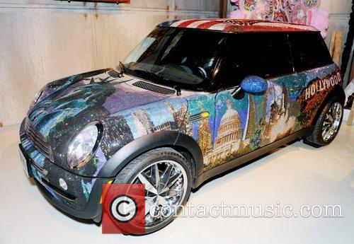 A Mini Cooper covered in Swarovski crystals worth...