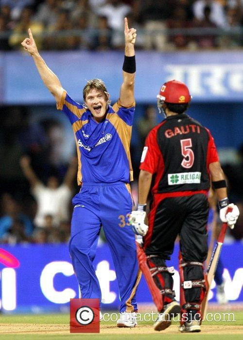 Of player of Rajasthan Royals celebrates a wicket...