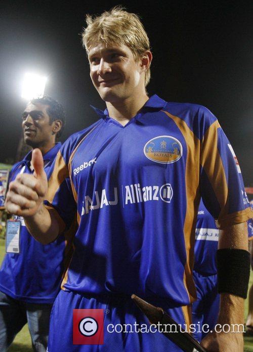 Shane Watson player of Rajasthan Royals  celebrates...