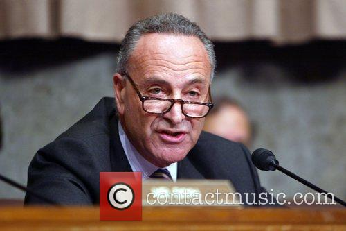 Senator Charles Schumer during a hearing before the...