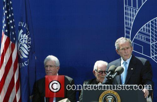 Richard Solomon, Rev. Theodore Martin Hesburgh and President George Bush 4