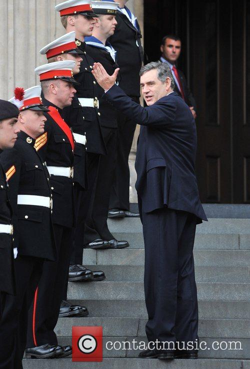 Gordon Brown Arrivals at St Paul's Cathedral for...