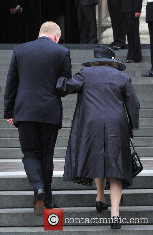 Lady Margaret Thatcher Arrivals at St Paul's Cathedral...
