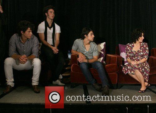 Nick Jonas, Kevin Jonas, Joe Jonas and Denise...