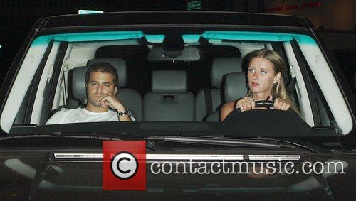 David Katzenburg and Nicky Hilton arrive at the...