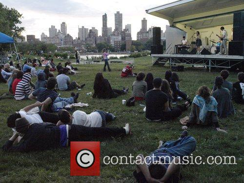Perfroming live at Socrates Sculpture Park in Long...