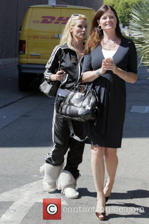Nicolette Sheridan and a friend go to The...