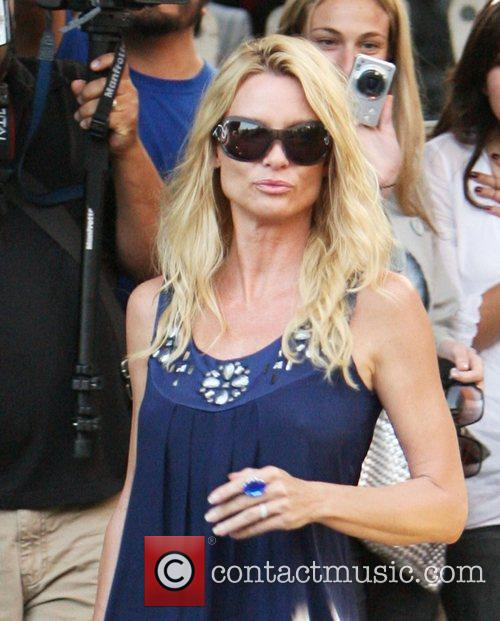 'Desperate Housewives' star Nicollette Sheridan leaving the Ivy...
